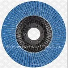 Disco de aleta de zirconia estándar de 4 pulgadas para acero inoxidable