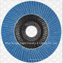 Disco padrão da aleta da zircônia de 4 polegadas para de aço inoxidável