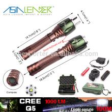 100% brillant 50% brillant rapide SOS Slow SOS alimenté par 18650 Batterie en aluminium 5W Cree Q5 Glare Flashlight