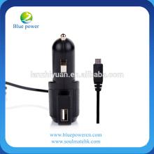Logo personalizado atacado 2A carregador de isqueiro USB com cabo de telefone carregador de carro