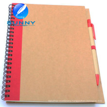 Promotional Spiral Notebook with Ballpen, Recycled Notebook with Ballpen