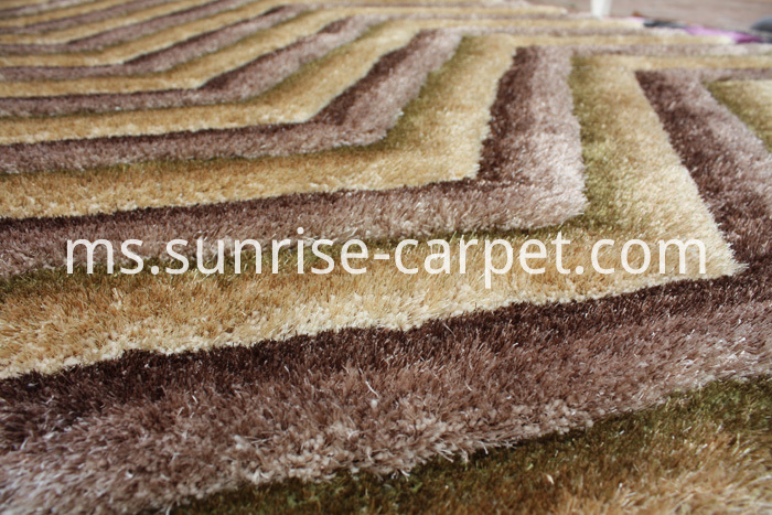 Polyester mix Shaggy Rug 3D DESIGN