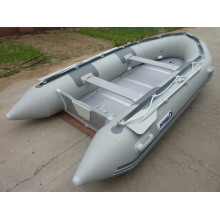 Rubber Folding 380cm Inflatable Sport Motor Boat