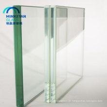 vidro moderado claro da segurança com borda chanfrada