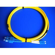 Cordes à fibres optiques Sc-LC Duplex Patchcord 3m 3.0mm