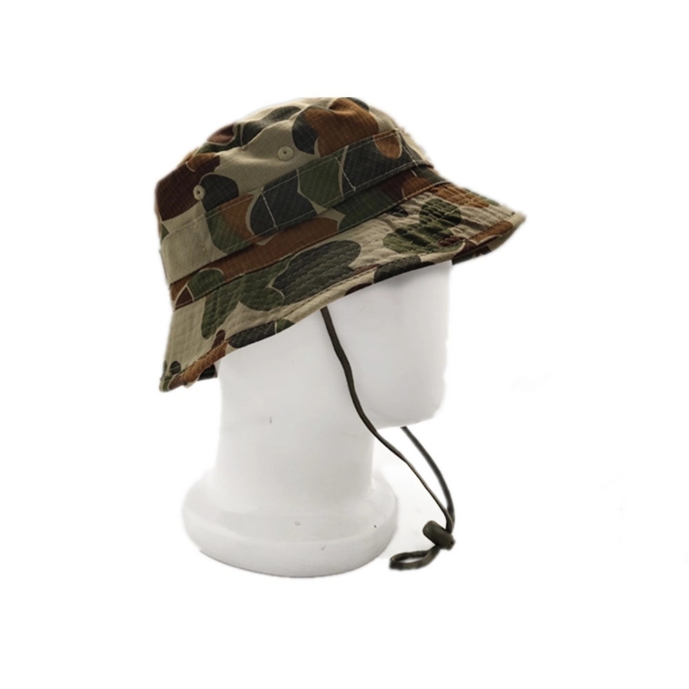 Wholesale custom fashion high quality 100% cotton camouflage bucket hat and cap