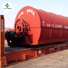 máquina de pirólisis de neumáticos de desecho Fabricante que posee una planta de demostración de 2000 m2