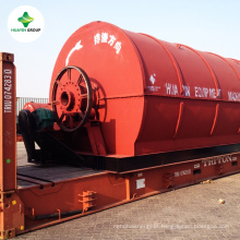 máquina de resíduos de pneus pirólise Fabricante possuindo 2000 m2 demo planta