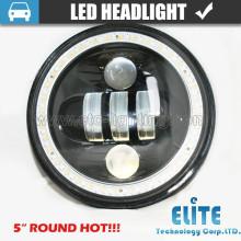"""Faro de 5 pulgadas LED faro redondo de 5 pulgadas para offroad faro de haz alto bajo de 5 """"LED para Jeep Wrangler"""