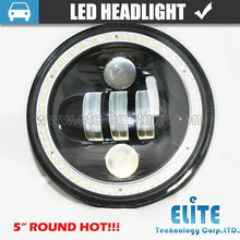 "5inch LED Headlight 5 inch Round Headlight for offroad 5"" LED High Low Beam Headlamp for Jeep Wrangler"