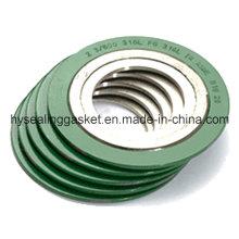 Спирально-навитое уплотнение с наружным внутренним кольцом