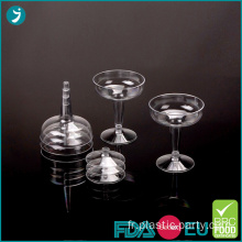 Verres à Cocktail en plastique transparent 4,5 oz jetable