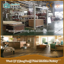 Parquet laminated flooring production machinery/ wood textured wooden flooring hot press machine