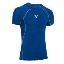 Intenso Ginásio Workouts Apertado Alta Elástica Rápida Juro Esportes T-Shirt