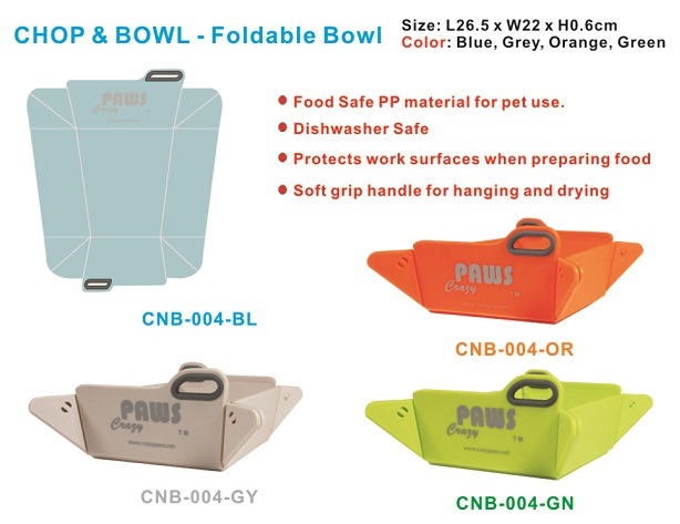 Foldable dog bowl