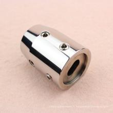 Connecteur de tuyau de porte en verre en acier inoxydable 304 de haute qualité
