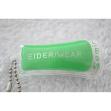 Étiquette de suspension en PVC gonflable imprimé pour Eider Down Wear Label