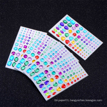 Factory Cheap Custom Diamond Rhinestone Crystal Sticker