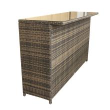 Mimbre al aire libre alta comedor muebles taburete de la barra
