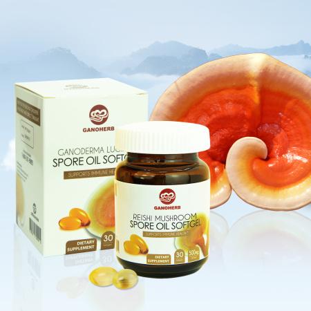 100% Organic Pure Anti Cancer Ganoderma Lucidum Reishi Mushroom Extract Spore Oil Softgel Triterpene