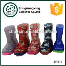 Botas de lluvia de pvc Botas de lluvia transparentes de PVC para niños