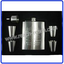 OEM Promotional Stainless Steel Hip Flask Sets (R-HF056)