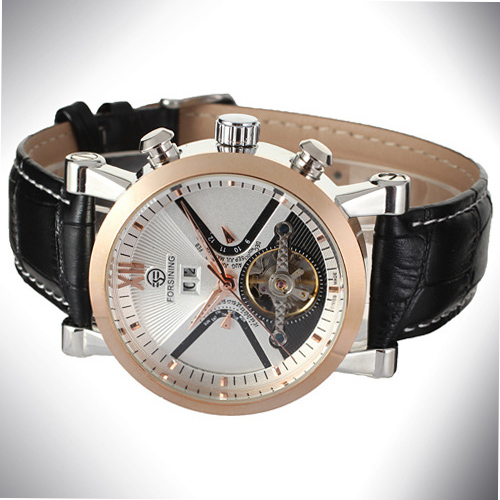 Mineral Glass Automatic Male Watch Custom Logo