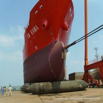 Floating and Filing Ship Airbag used for ship close to dock