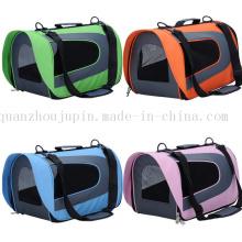 Transporteur portatif d'animal familier de sac de chien de chat de voyage de voyage d'OEM portatif