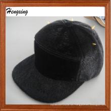 Sombrero caliente negro de la moda 5 Panel