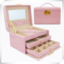 Professional Leather Cosmetic Tool Box with Lock and Handle