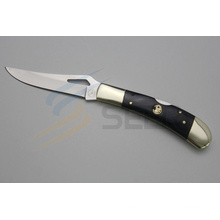 "7"" Copper and Ox Bone Handle Cutting Knife (SE-481)"
