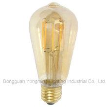 Venda directa da fábrica 4W / 6W St64 bulbo de iluminação com tampa de ouro