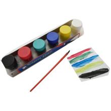 6pcs kids Children teaching painting acrylic Non-toxic Finger Color Paint