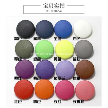 Plastic cap snap button for kids' garments