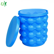 Food Grade Portable Silicone Ice Bucket for Traveling