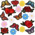 Patches de decoração de vestido personalizado com bordado simples