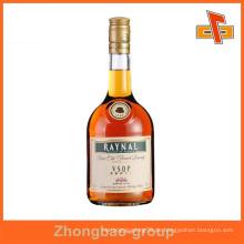 Guangzhou Lieferanten Großhandel Druck und Verpackung glänzend oder matt Finish benutzerdefinierte selbstklebende Glas Flasche Papier Etikett