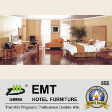 Juego de dormitorio de madera de lujo del hotel (EMT-C0901)