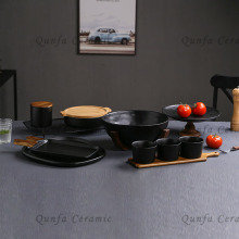 Cast-Iron 9pcs Cookware Set-Small Canister with Acacia Lid