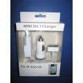 Adaptador para carregador de viagem para celular 3 em 1 para iPhone 3G / 3GS / 4G / 4GS
