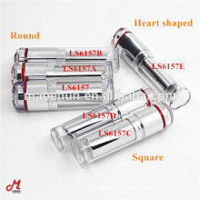 Clear cap round square heart shaped lipstick case series