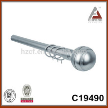 C19490 aluminium metal curtain rod finials,decoration curtain rod accessories, double single curtain pole rod set