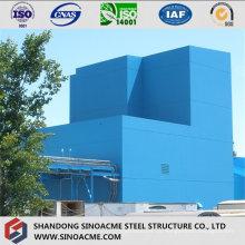 Edifício industrial do frame pesado da construção de aço com galeria
