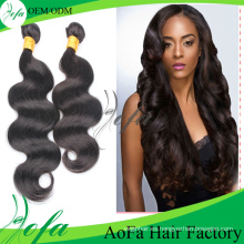 Remy Weft Malaysian Human Hair Extension para Black Natural