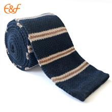 Cravate tricotée par coutume de coton de prix bas pour les hommes