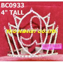 Preciosas coronas de cristal de zapatos y tiaras