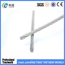 Corda de fio de aço galvanizada mergulhada quente 7X19
