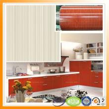 Qualité Assurance bois acier à grains colorés en acier couleur rouge