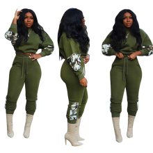 C92076 Women 2020 winter two piece set patchwork printing bodycon sexy casual style women 2 piece tracksuit set wholesale